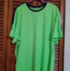 Nike Dri-Fit Green Running Top